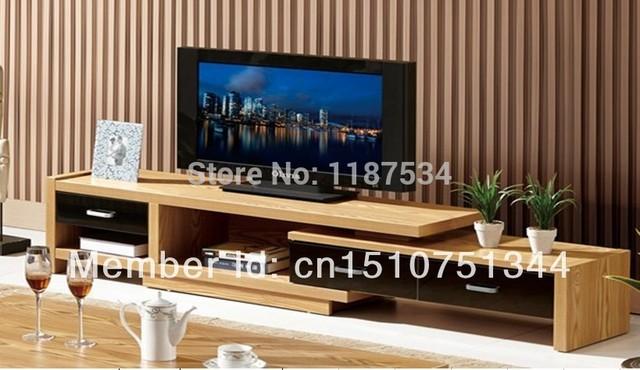 Elm Veneer Mdf Tv Stand Living Room Furniture Tv Bench Tv Cabinet