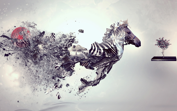 cheap modern art paintings Abstract Toy Horse famous artists ...
