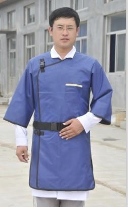 Mmpb 0.35 manga longa terno de proteção contra raios, lado direito x-ray de manga comprida roupas de proteção de radiação.