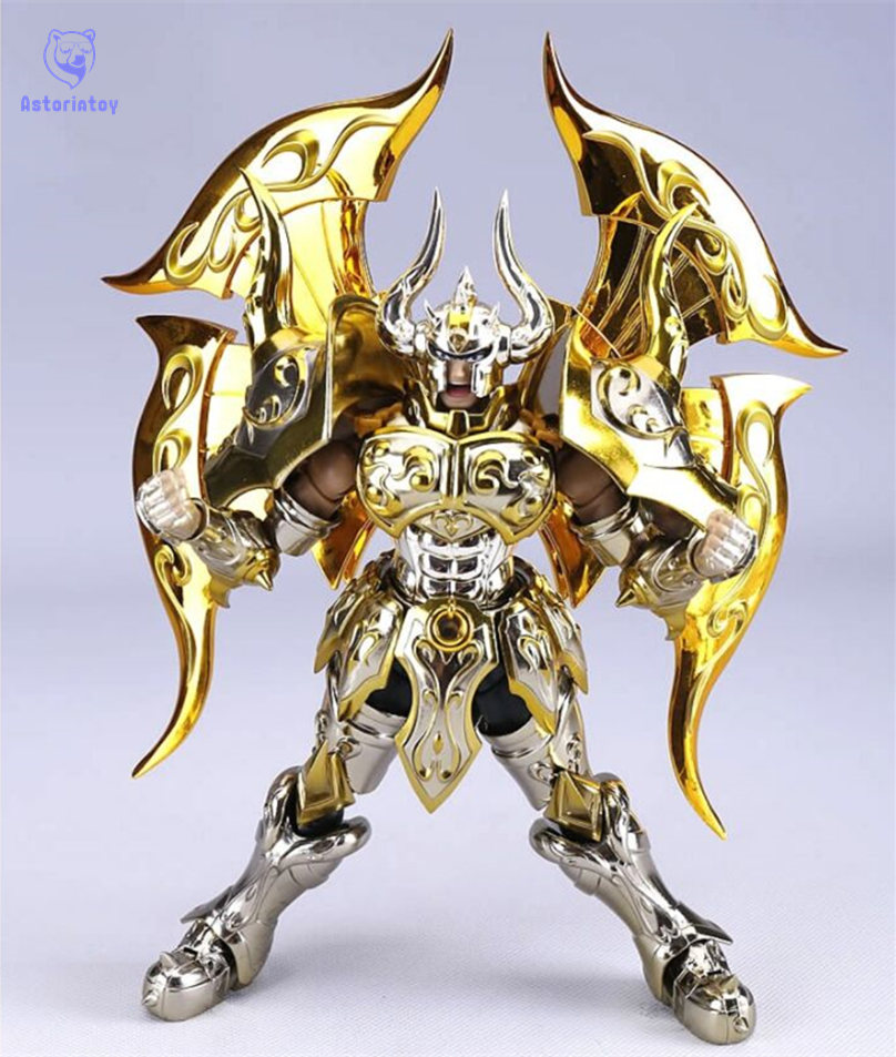 Taurus model Taurus Aldebaran EX Soul Of Gold Saint Seiya model SOG Action Figure Metal Armor new arrival s temple model st taurus aldebaran saint seiya metal armor myth cloth gold ex action figure toy
