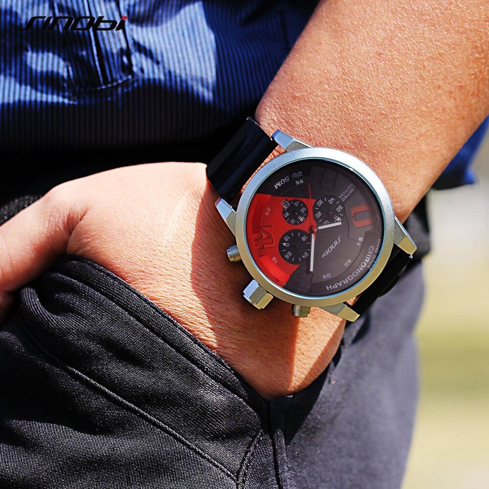 SINOBI ерлер спорттық сағаттары Red Dial Man - Ерлердің сағаттары - фото 3