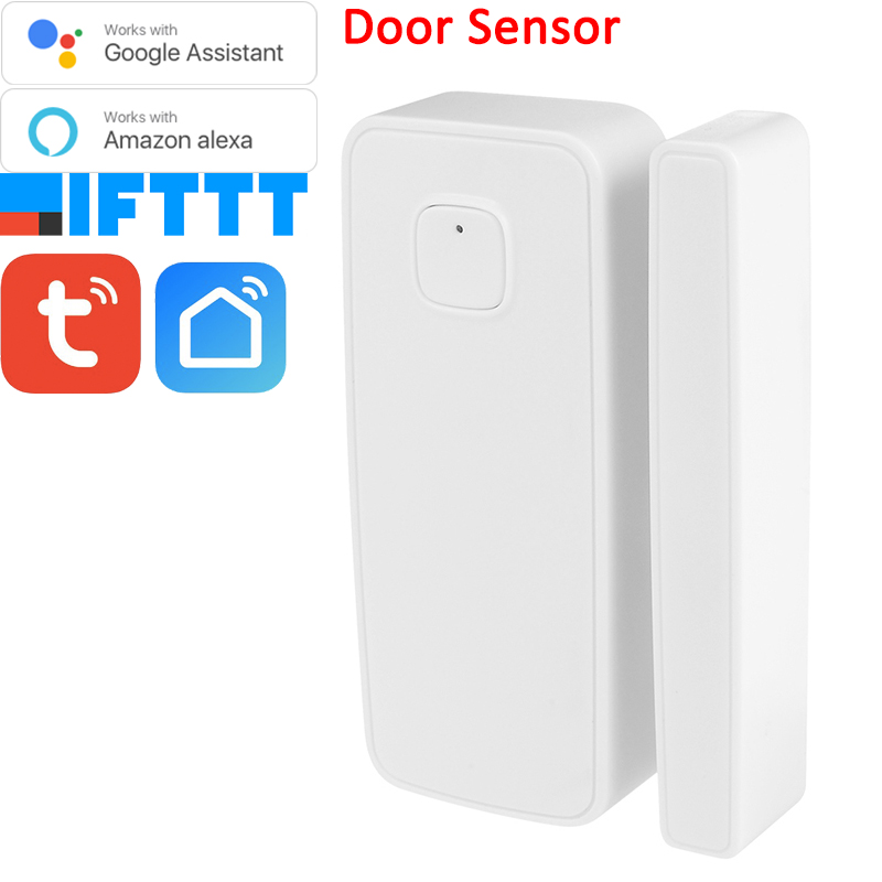 Tuya Smart Life Alexa Google Home Assistant Tuya Wireless WiFi Window Door Contact Sensor Battery Powered(China)