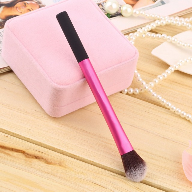 2015 HOT Selling  Professional Pro Powder Blush Brush Makeup Foundation Tool Cosmetic Stipple Blending Fiber free shipping