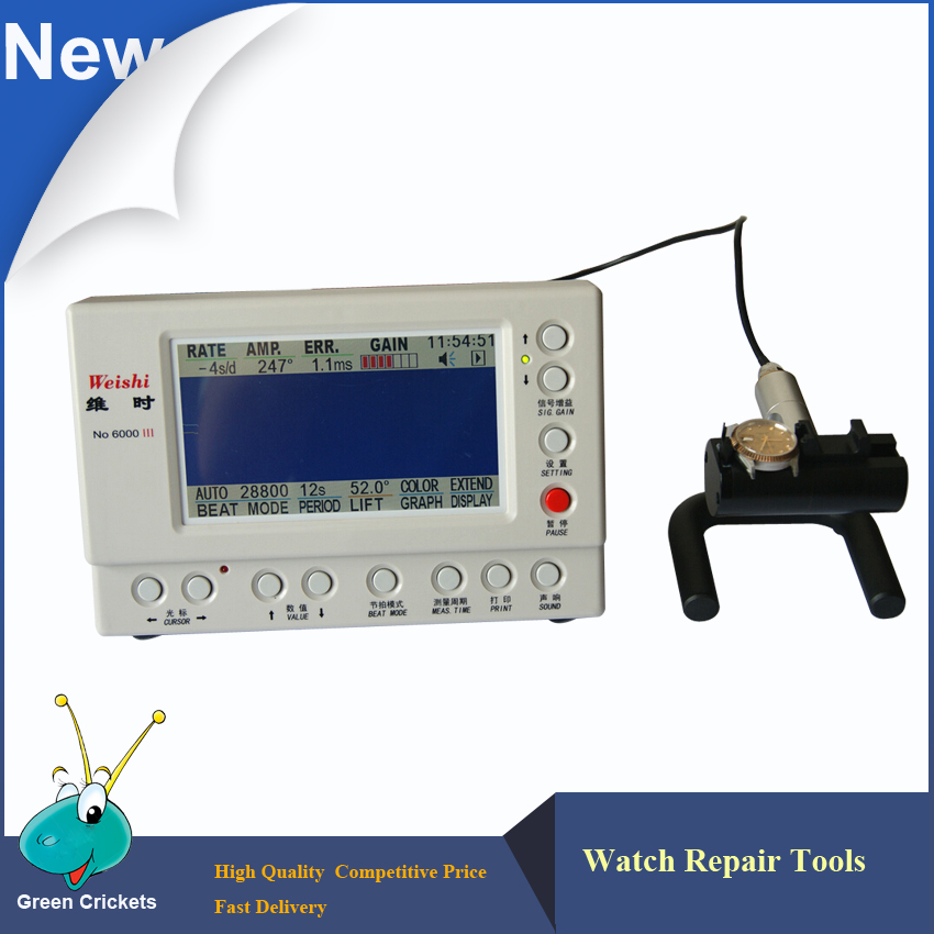 No.6000 III Multifunction Watch Timegrapher,Mechanical Watch Tester Timing Machine,Watch Tools  цены