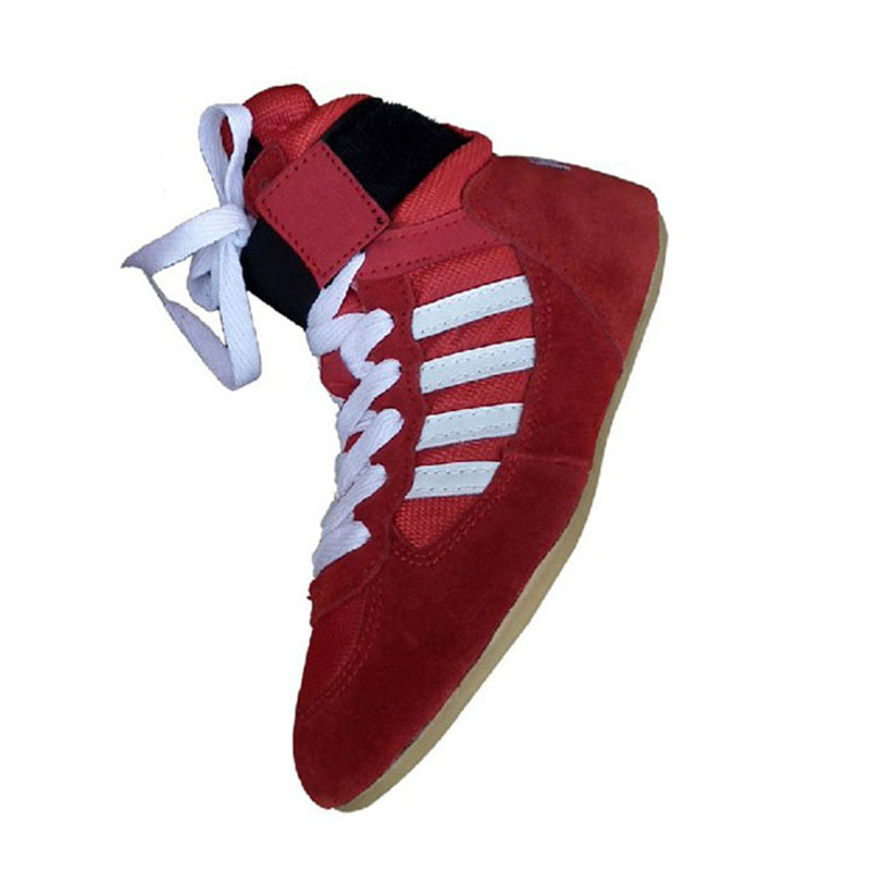 Galerry womens high top wrestling boxing shoe white Page 2