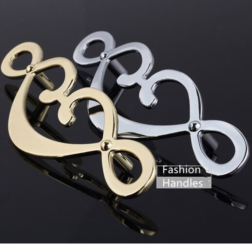 Modern simple fashion 170*40*25mm golden silver kitchen cabinet dresser wardrobe drawer handles pulls knobs 96mm chrome pulls