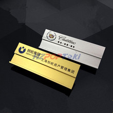 7x2.5cm Aluminium Alloy Staff Number Name Badge Plate Holder by Safty Pin or Magnet Replaceable Reusable with Printing 30pcs