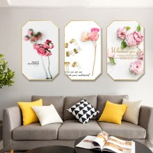 Nordic INS Pink girl modern simplicity painting home hotel hanging background wall restaurant decorative mural