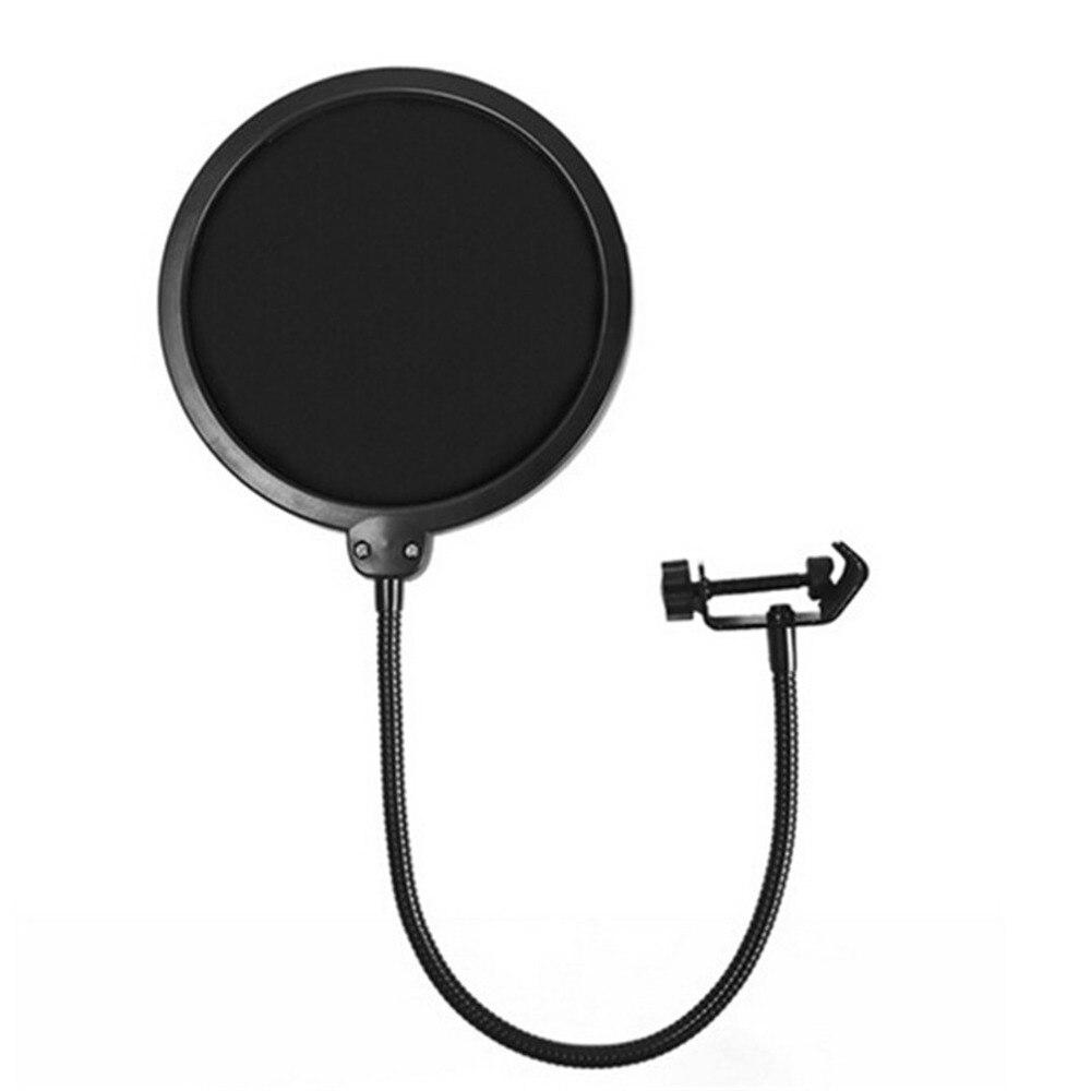 Duurzaam Double Layer Voorruit Studio Microfoon Flexibele Wind Screen Mask Mic Pop Filter Bilaag Shield Voor Spreken Recording