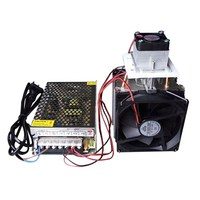 12V 10A Electronic Semiconductor Radiator Refrigerator Production Cooler Cooling System DIY With EU 220V Power Supply