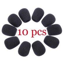 10 шт Мини микрофон крышка гарнитура Замена пенный(мягкий) микрофон чехол для микрофона лобовое стекло гарнитура защита от ветра пена горячая распродажа