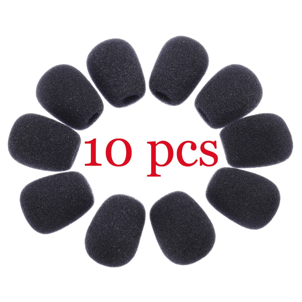 10Pcs Mini Microphone Cover Headset Replacement Foam Microphone Cover Mic Cover Windshield Headset Wind Shield Foam Hot Sales