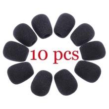 10Pcs Mini Microphone Cover Headset Replacement Foam Mic Windshield Wind Shield Hot Sales