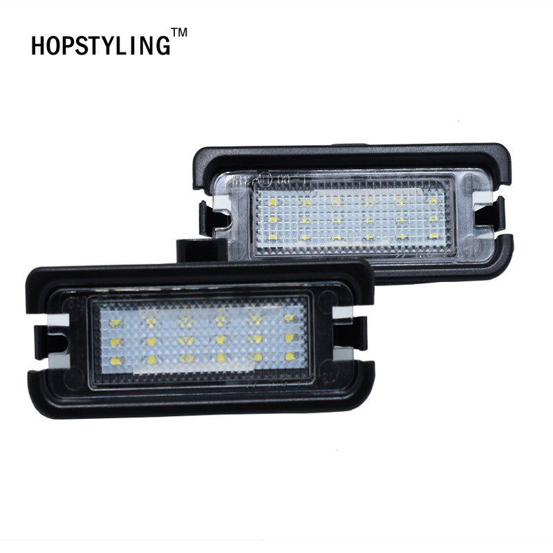 HOPSTYLING 2x Super White 18SMD LED Number License Plate Lights for Ford Mustang  2015-2017 Auto Lighting Bulb Replacement 2pcs car led license plate lights 12v white smd3528 led number plate lamp bulb kit for ford focus c max 03 07
