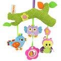 Baby Toys сова птица Милый Мультфильм Животных наполнить Плюшевые Куклы Рано Развивающие погремушка кровать висячие Коляска Висит подарок