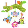 Baby Toys owl bird Cute Cartoon Animal stuff Plush Doll Early Educational rattle bed hanging Stroller Hanging gift