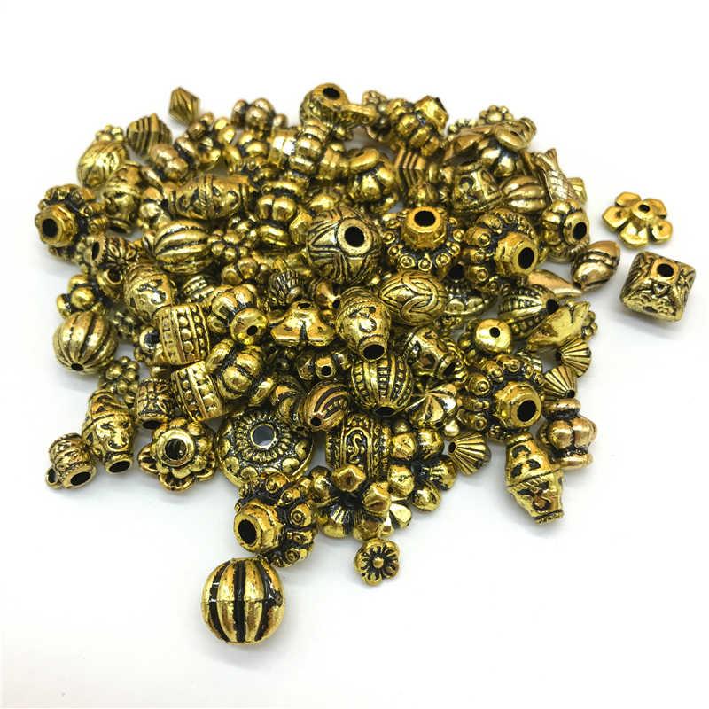 (15G Sekitar 40 ~ 60 Pcs) vintage Akrilik Acak Campuran Pesona untuk Pembuatan Perhiasan Liontin Pesona Klasik Perhiasan Buatan Tangan Kerajinan