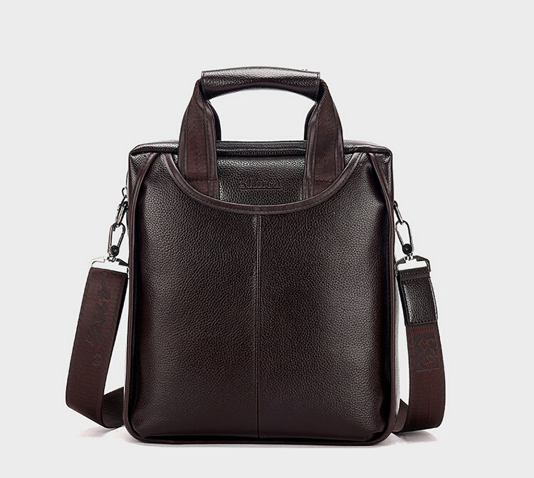 ФОТО Free Shipping New Fashion pu Leather Men Bags Famous Brand business briefcase Shoulder Messenger Bag Men's Travel Bags  LJ-0514