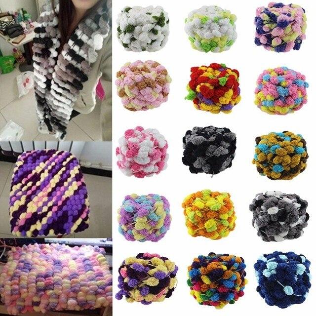 Super Pas Cher Laine Polyester Coloré Colorant Écharpe tricoté à La Main  Fil Pour tricot À 9eedbd06913