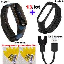 Mi Band 3 Strap For Xiaomi Mi Band 3 Bracelet USB Charger Miband 3 Protector Film For Xiaomi NFC Miband 3 Smart Wristband Correa недорого