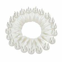 20 шт белый пластиковый Невидимый настенный держатель для фото фоторамки гвоздь крючок Вешалка жесткий фоторамка настенные крючки