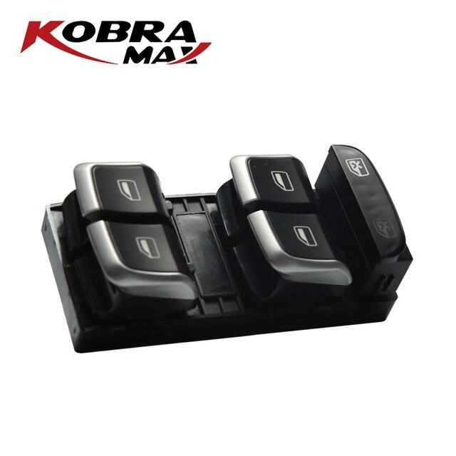 KobraMax Electric Power Finestra di Controllo Interruttore Pulsante 8U0959851/8UD959851A Adatto Per Audi A4 2007 2014 Accessori Auto