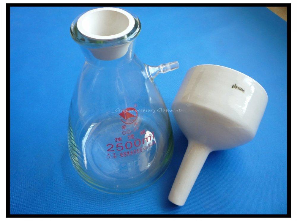 2500 ml (2.5L) Buchner Imbuto Apparatus, Kit Filteration Imbuto usato per Aspirazione di Vuoto Filteration