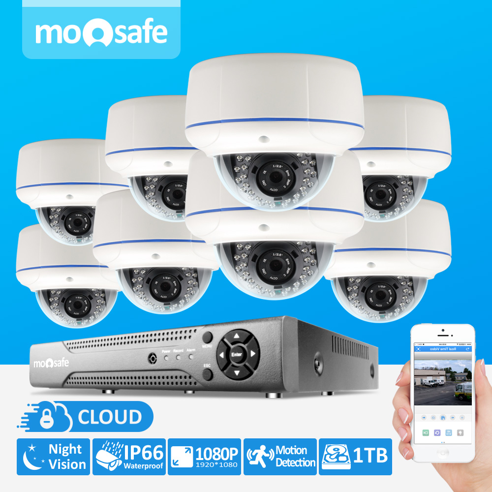 8CH CCTV System 1080P NVR 8PCS  IR Weatherproof Outdoor Video Surveillance Home Security Camera System 8CH NVR Kit