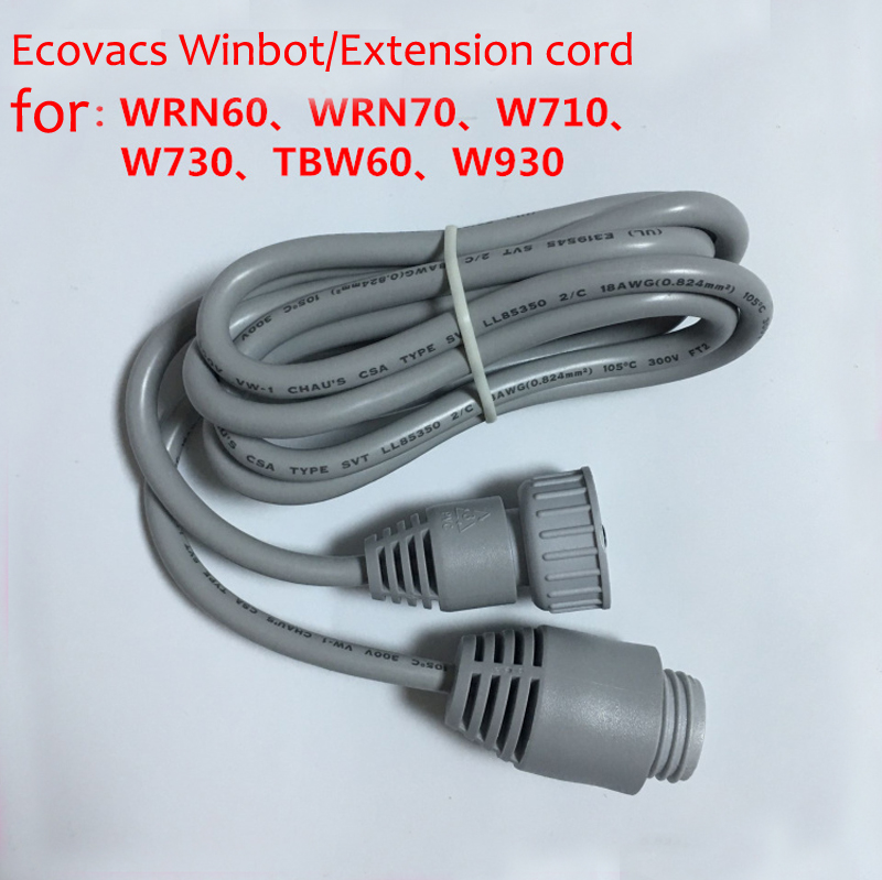 1.5m Extension Cable Line for Ecovacs Escova Winbot WRN60 WRN70 W710 W730 TBW60 W930 Robot Vacuum Cleaner Parts