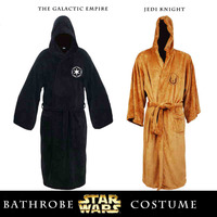 Star Wars Darth Vader Flannel Terry Jedi Adult Bathrobe Robes Halloween Cosplay Costume