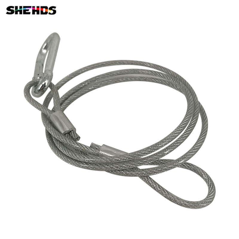 80cm Stainless Steel Rope Load Bearing 20kg XR33 Safety Ropes Security Cables For LED Par Moving Head Lighting Accessorie