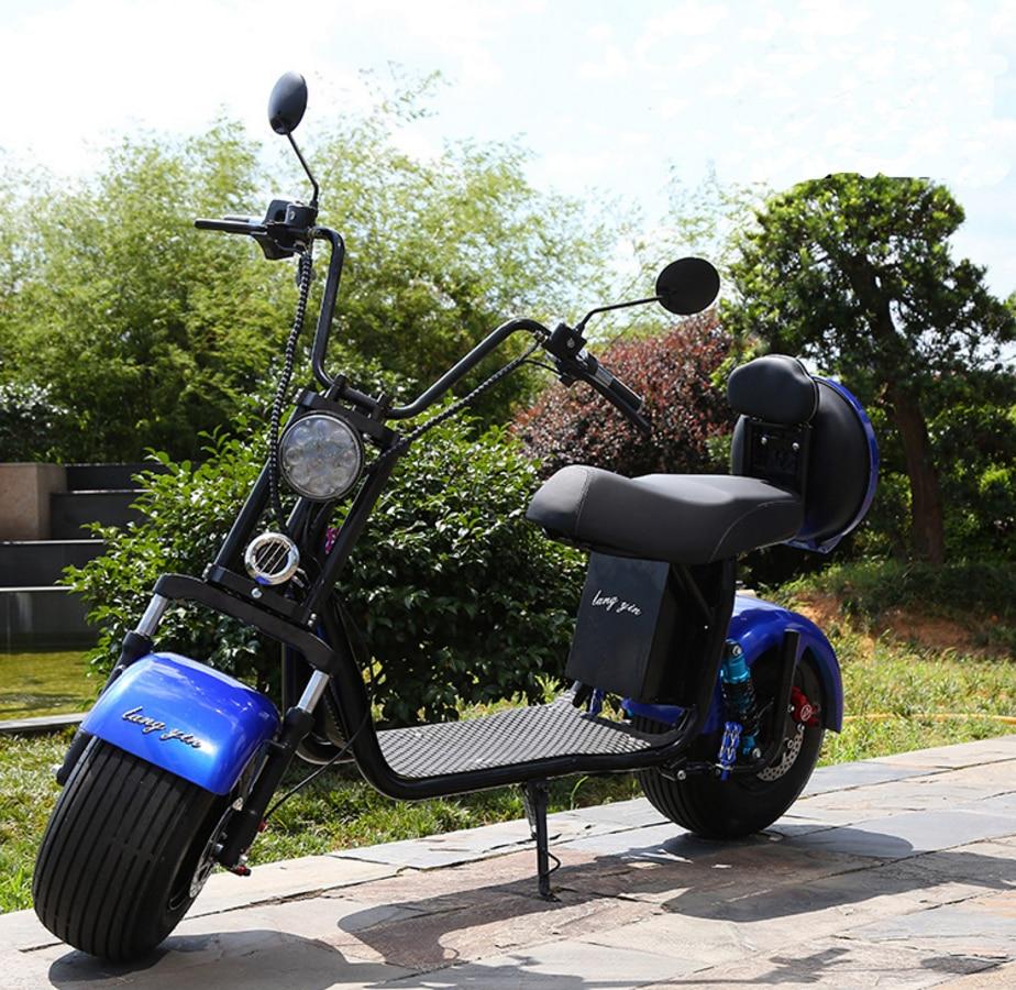 Électrique batterie au lithium Citycoco Scooter 1500 W 60 V 20AH motos électriques Moto Électrique