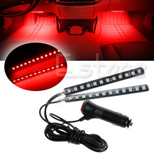 New Red 2X12 LED Car Interior Footwell Floor Decor Atmosphere Light Neon Strips