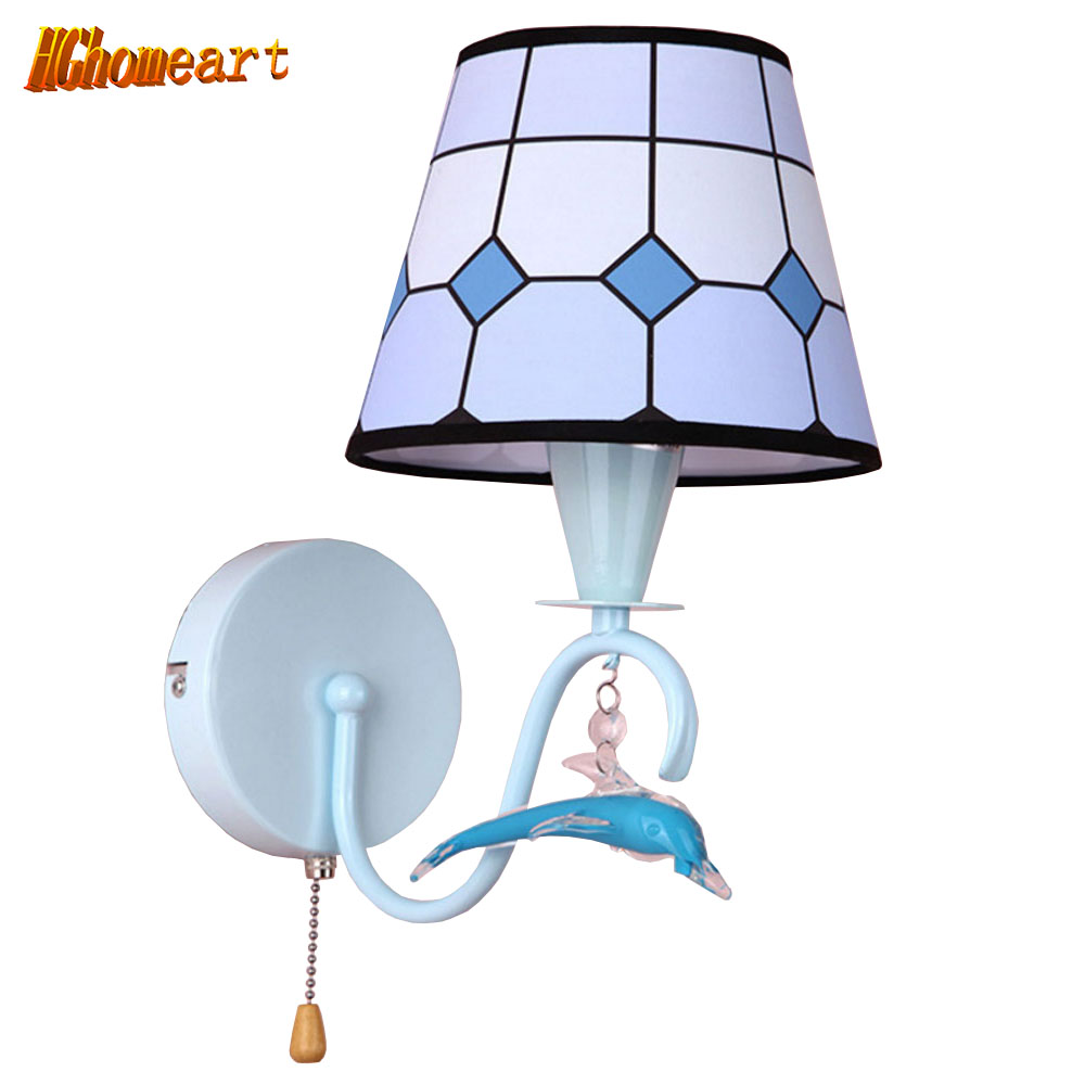 HGHomeart Modern Cute Cartoon Wall Lamp LED Night Light Children's Room Access Loft Lighting Decoration Wall Bedside Lamp modern acrylic led wall lights bedroom bedside wall lamp lampara de pared bed room decoration lighting wall sconces