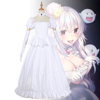 Anime Kuppa Koopa hime Princess Cosplay White Dress Carnival Hallowee Christmas Party Sexy Dress Boosette Cosplay Costume Women