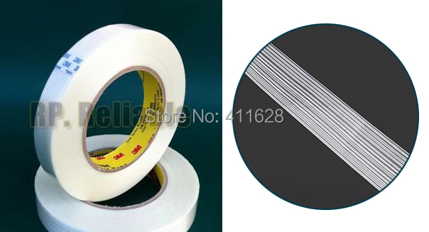 1x 20mm*55M Original 3M 8915 Adhesive Fiberglass Tape High Tensile Strength for Industry Electric, Wood, Metal Panel Pack Fasten 1x 35mm 55m 3m strong strength tensile adhesive filament tape for heavy carton pack wood metal home appliance shipping fasten