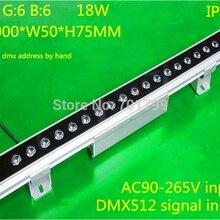 18*1 Вт(6R6G6B) DMX512 RGB светодиодный настенный светильник высокой мощности; может установить dmx адрес вручную; L1000* W54* H38MM