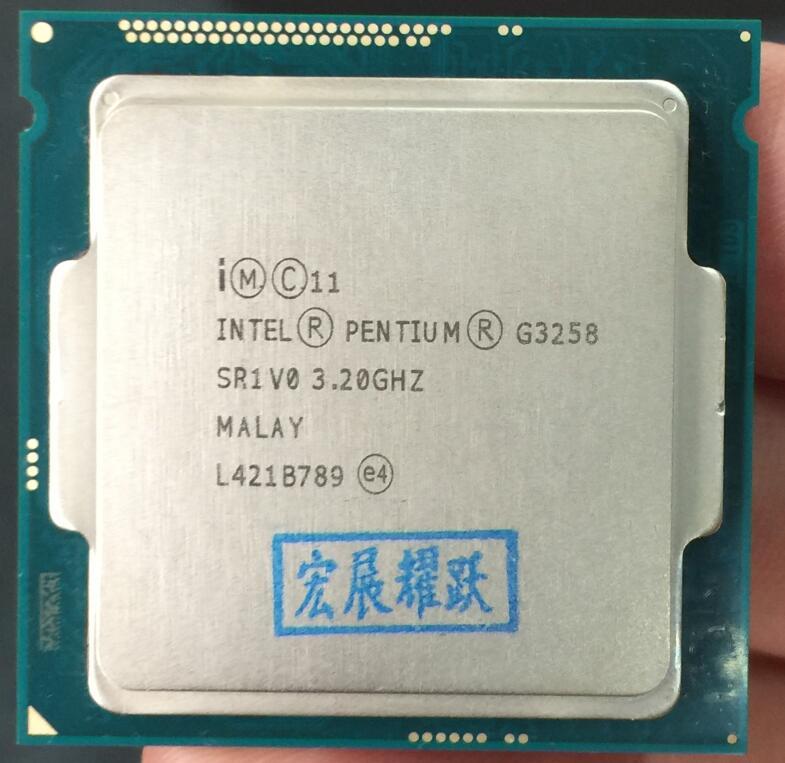 Intel Processor Processor G3258 LGA1150 22 nanometers Dual-Core 100% working properly Desktop Processor processor description languages 1