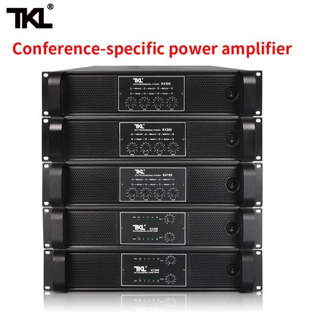 TKL 4 채널 증폭기 300W X4 회의 증폭기 오디오 전문 전력 증폭기 스위칭 전원 공급 장치 HIFI