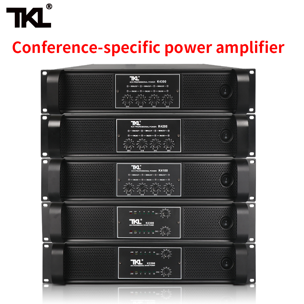 TKL 4 Channel Amplifier 800W X4 Conference Amplifier Audio Professional Power Amplifier Switching Power Supply HIFI