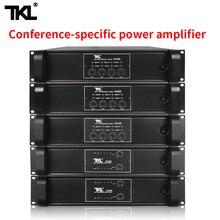 Tkl 4 Kanaals Versterker 300W X4 Conferentie Versterker Audio Professionele Eindversterker Schakelende Voeding Hifi