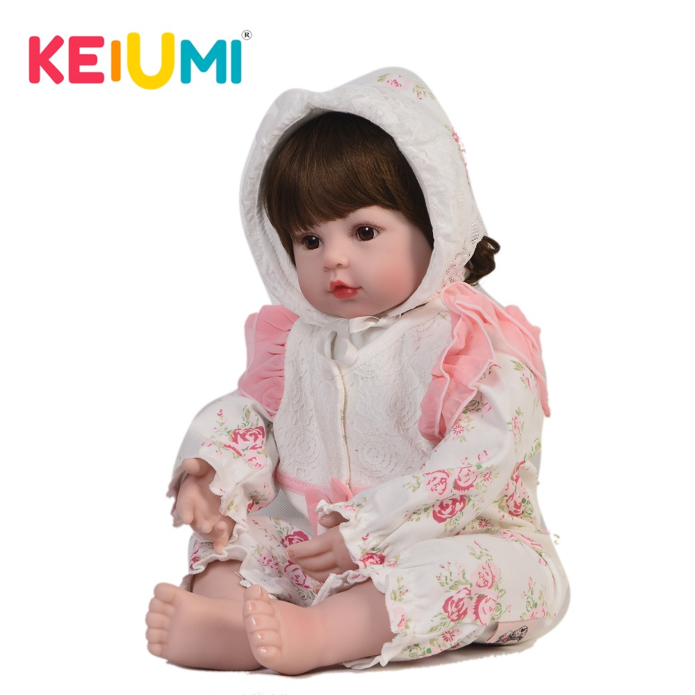 Lovely 24 Inch Reborn Baby Dolls Soft Silicone Baby Real Like Princess KEIUMI 60 cm PP Cotton Body Reborn Boneca Kids PlaymatesLovely 24 Inch Reborn Baby Dolls Soft Silicone Baby Real Like Princess KEIUMI 60 cm PP Cotton Body Reborn Boneca Kids Playmates