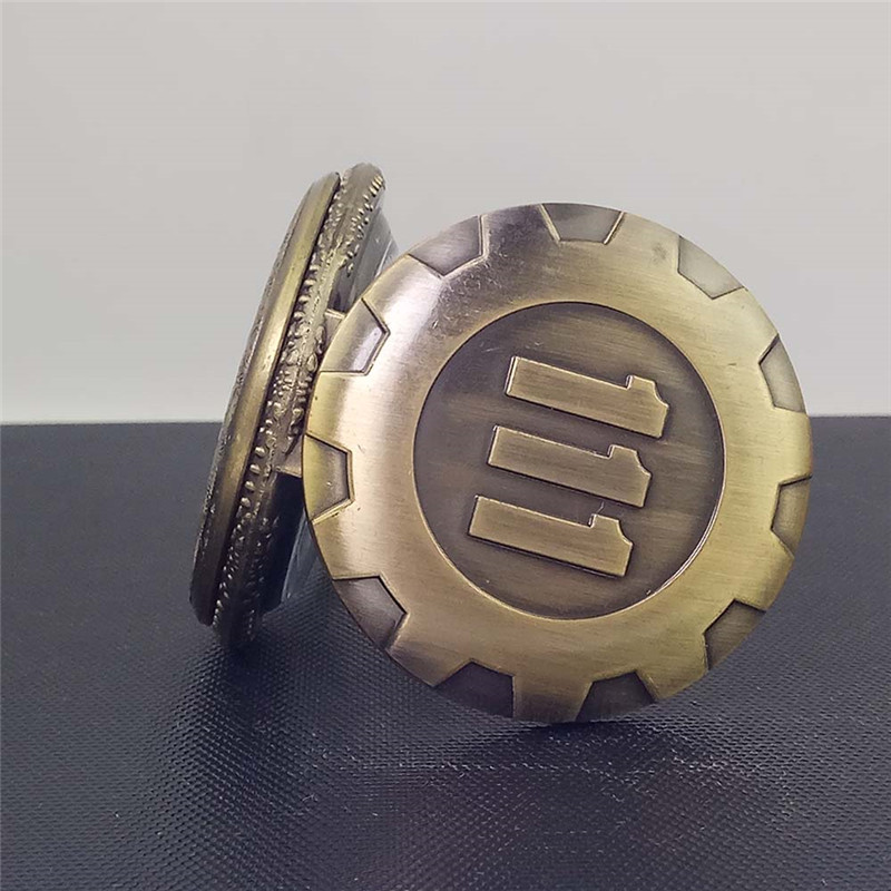 Cindiry Fashion Sølv Guld Game Fallout 4 Vault 111 Quartz Pocket - Lommeur - Foto 6