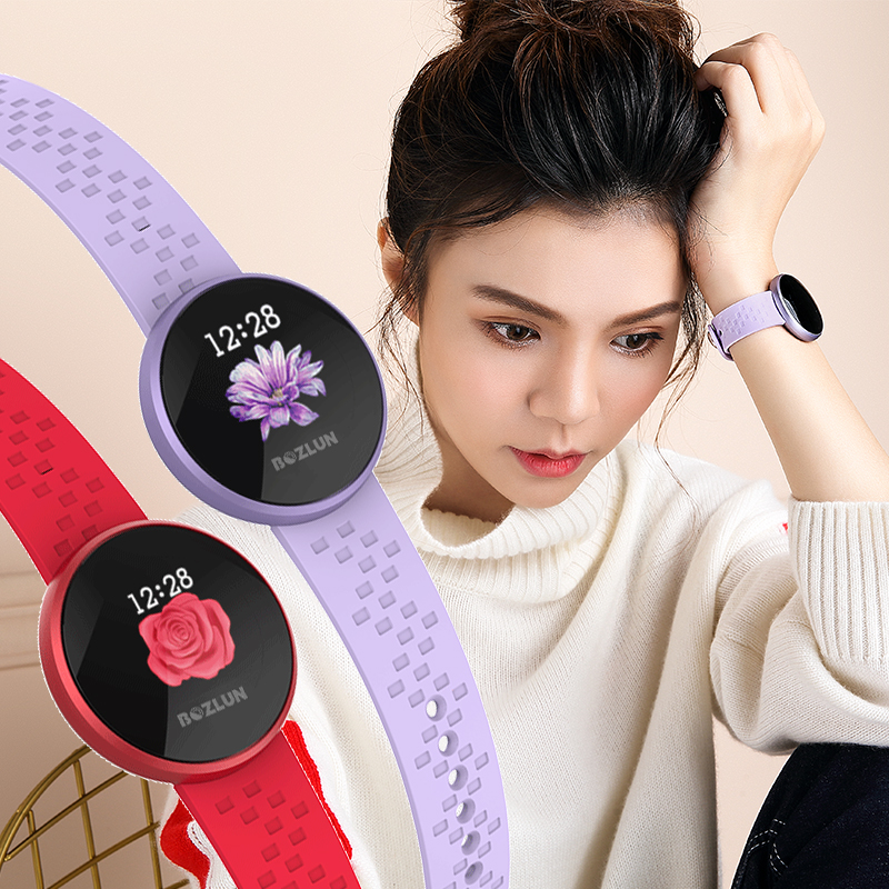 SKMEI femmes Fitness Tracker montre intelligente dames moniteur de fréquence cardiaque montre étanche smartwatch Calories étape montre-bracelet numérique