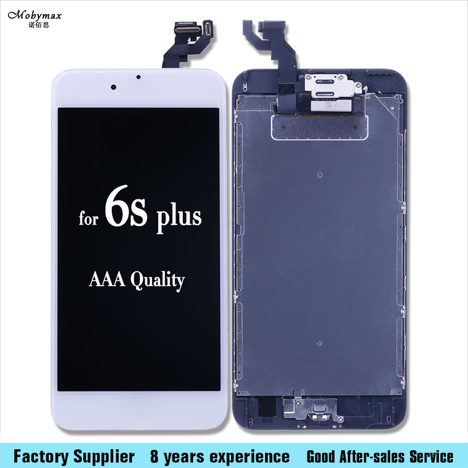 For iPhone 6 6S plus + Display Full LCD Screen Display 3D Touch Digitizer Assembly with speaker+camera+sensor flex+home button