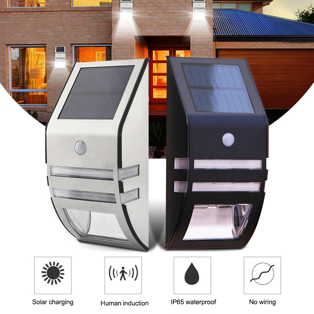 LED Solar Power PIR Motion Sensor Wall Light Outdoor Waterproof Energy Saving Street Garden Security Lamp