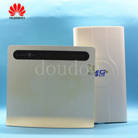Unlocked Used Huawei B593u 12 B593S 12 4G LTE 100Mbps CPE Router With Antenna with Sim CardSlot 4G LTE WiFi Router
