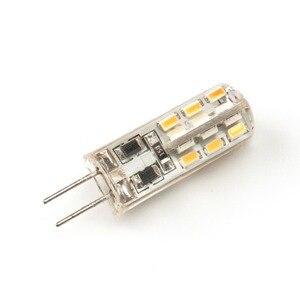 Image 5 - Lâmpada led g4 2w 12v/ac220v, 3014smd, 24led, luz branca quente/branca, 10 peças luz de led ângulo de 360 graus