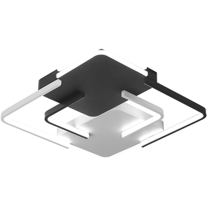 Image 5 - Lustre żyrandol oświetlenie LED salon sypialnia żyrandol z falą kwadratową biały czarny Lustre Avize żyrandole