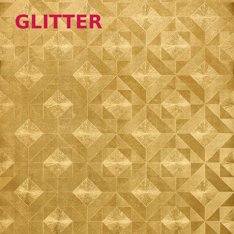 Living Room Background Gold Wallpaper 3d Flower Foil Relief Mosaic Brick Wall